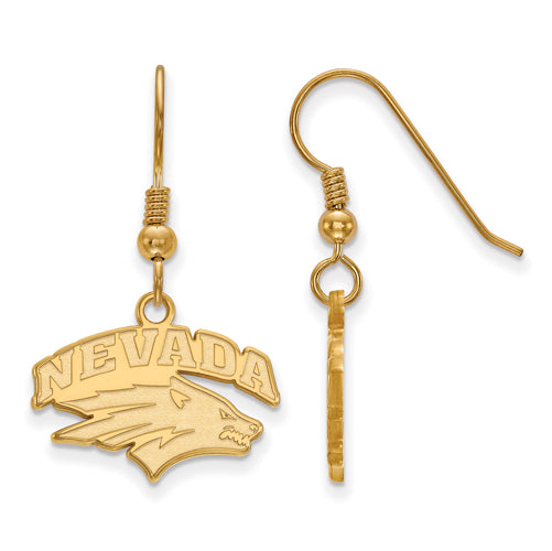 SS w/GP University of Nevada Small Dangle Wolf Pack Earrings