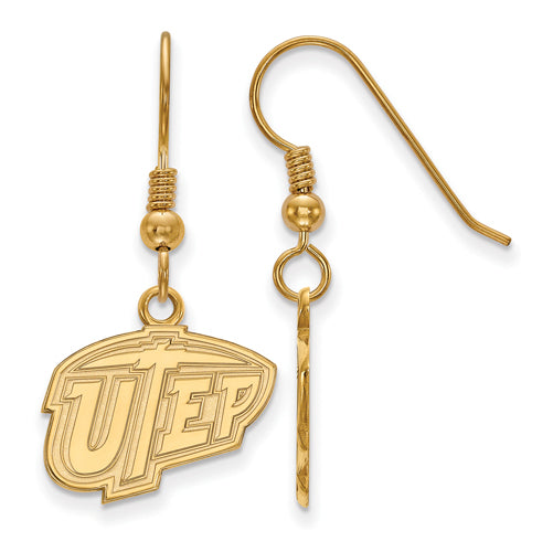 SS w/GP The U of Texas at El Paso Small UTEP Dangle Earrings