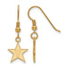 SS w/GP Vanderbilt University Small Dangle Earrings