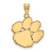 14ky Clemson University Large Pendant