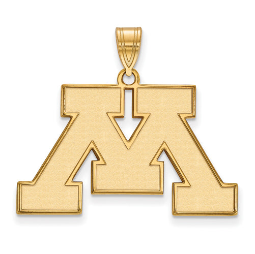 14ky University of Minnesota Large Logo Pendant