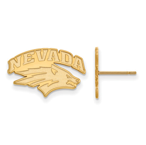 SS w/GP University of Nevada Small Post Wolf Pack Earrings