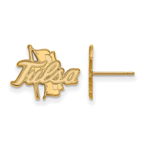 SS w/GP The University of Tulsa Golden Hurricane Small Post Earrings