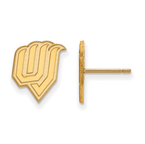 SS w/GP Utah Valley State Small Post Earrings