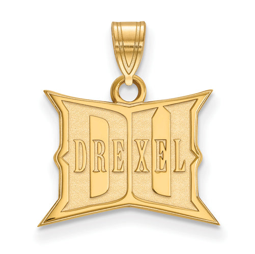 SS w/GP Drexel University Small Wodmark Pendant