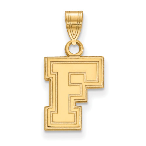 SS w/GP Fordham University Small F Logo Pendant