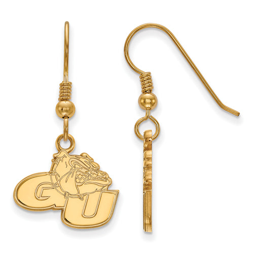 SS w/GP Gonzaga University Small Dangle Earrings