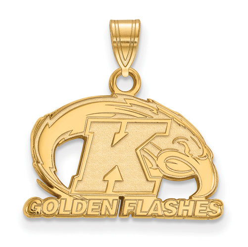 SS w/GP Kent State Golden Flashes Small Pendant