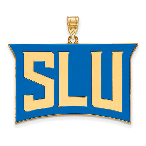SS w/GP St. Louis University XL Enamel Pendant