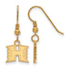 SS w/GP The University of Hawaii XS Dangle Earrings