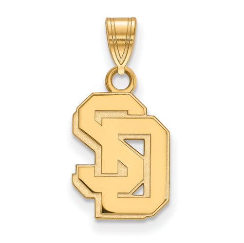 14ky University of South Dakota Small Pendant