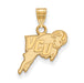 14ky Virginia Commonwealth University Small Rams Logo Pendant