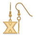 SS w/GP Xavier University Small Dangle Earrings