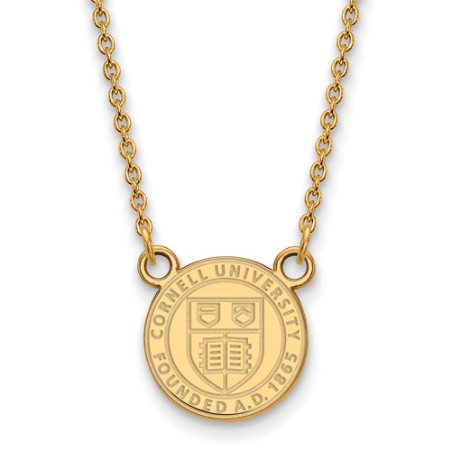SS GP Cornell University Small Crest Pendant w/ Necklace