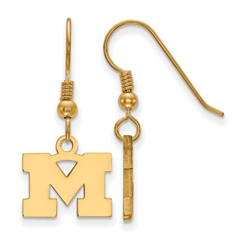 SS w/GP University of Michigan XS Dangle Earrings