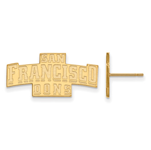 SS w/GP University of San Francisco Small Post Earrings
