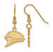 SS w/GP Western Michigan University Sml Dangle Broncos Earrings