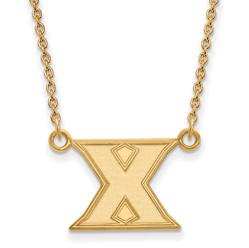 10ky Xavier University Small Pendant w/Necklace