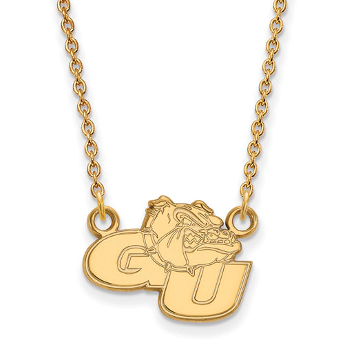 SS w/GP Gonzaga University Small Pendant w/Necklace