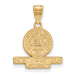 SS w/GP Northwestern University Medium Crest Pendant