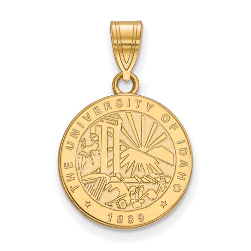 SS w/GP University of Idaho Medium Crest Pendant