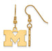 SS w/GP University of Michigan Small Dangle Earrings
