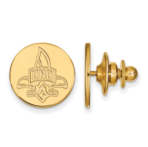 SS w/GP University of New Orleans Lapel Pin