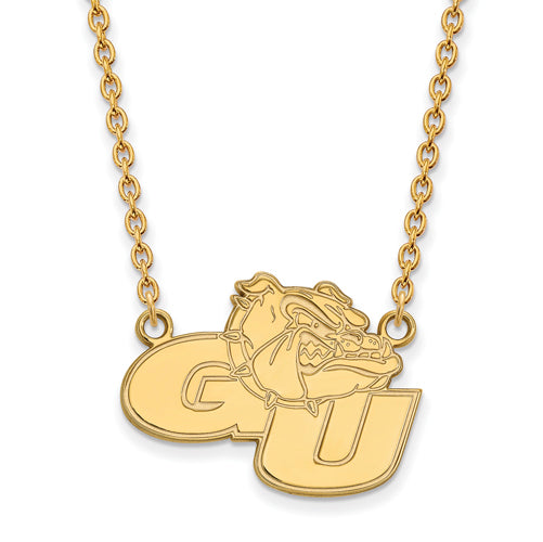 SS w/GP Gonzaga University Large Pendant w/Necklace