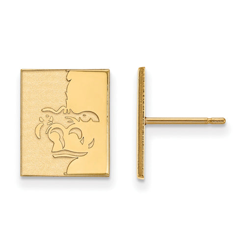 SS w/GP Pittsburg State University Small Post Earrings