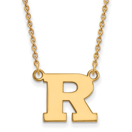 SS w/GP Rutgers Small Pendant w/Necklace