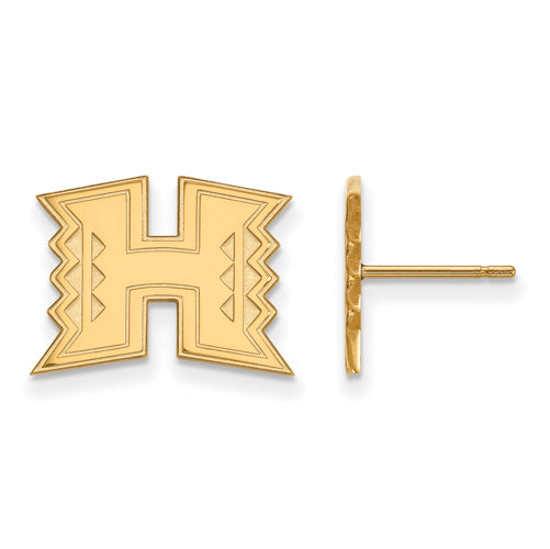 SS w/GP The University of Hawaii Small Post Earrings