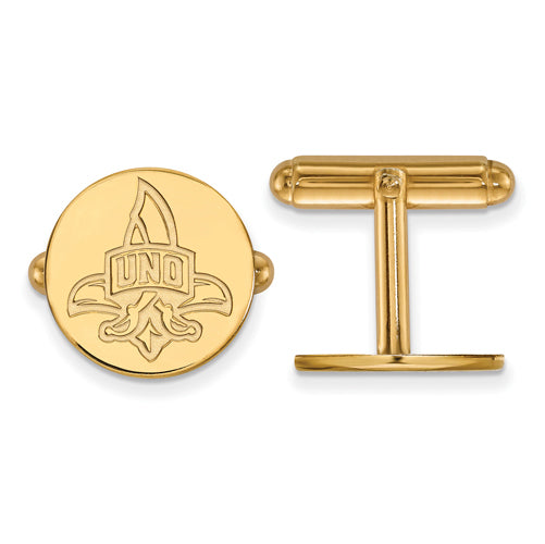 SS w/GP University of New Orleans Cuff Link