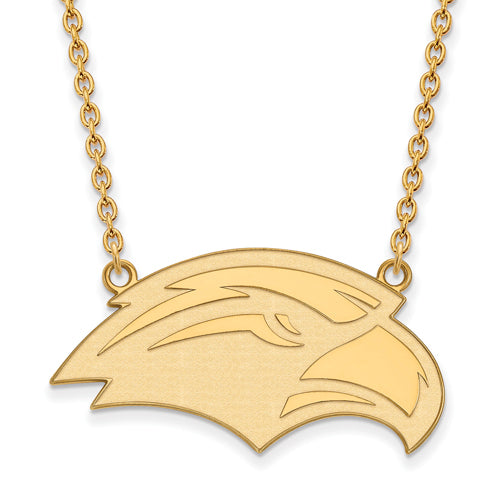 SS w/GP U of Southern Miss Large Pendant w/Necklace