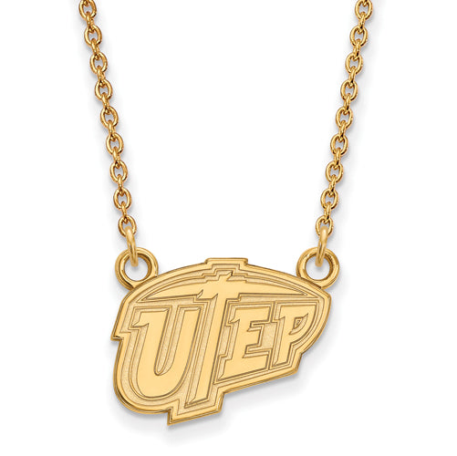 SS w/GP The U of Texas at El Paso Sm UTEP Pendant w/Necklace