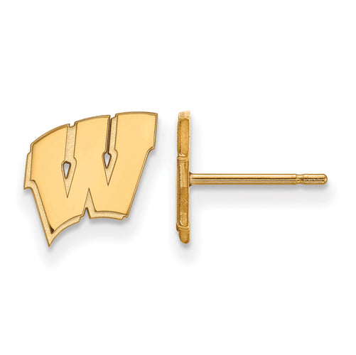 SS w/GP University of Wisconsin XS Badgers Post Earrings