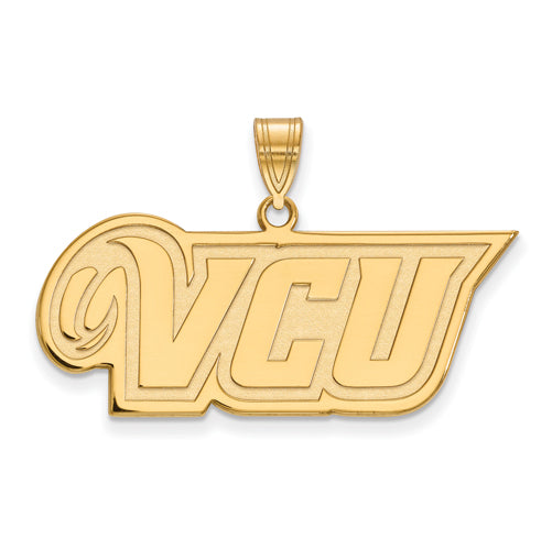SS w/GP Virginia Commonwealth U Medium VCU Logo Pendant