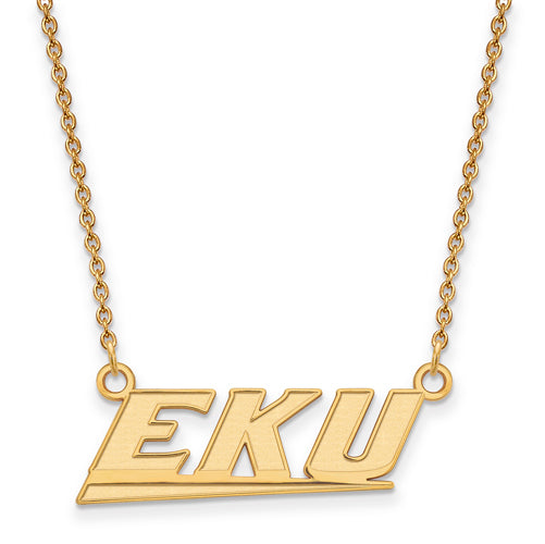 SS w/GP Eastern Kentucky U Small EKU Pendant w/Necklace