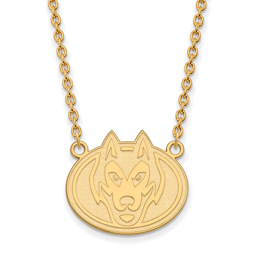 SS w/GP St. Cloud State Large Huskies Pendant w/Necklace
