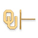 SS w/GP University of Oklahoma Small Post Earrings