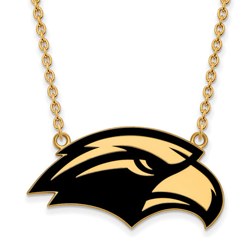 SS w/GP U of Southern Miss Lg Enl Pendant w/Necklace
