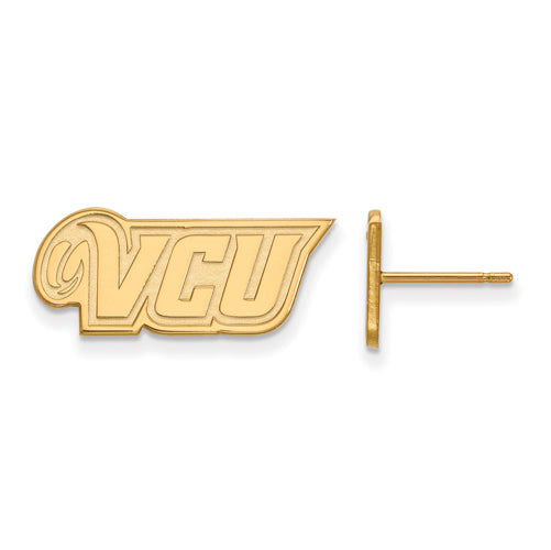 SS w/GP Virginia Commonwealth U XS VCU Logo Post Earrings