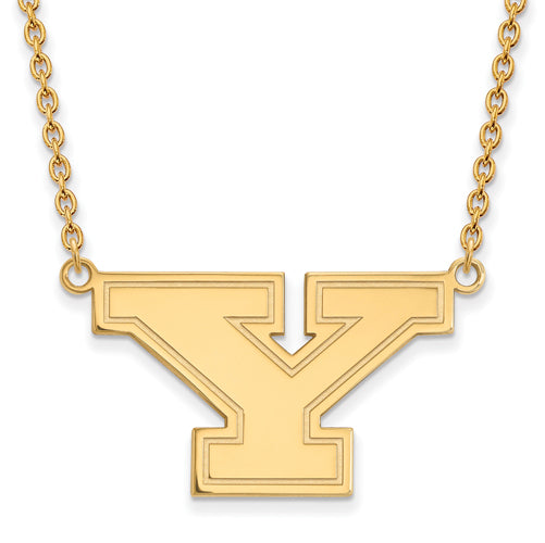 SS w/GP Youngstown State U Large Pendant w/Necklace