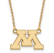 SS w/GP U of Minnesota Small Logo Pendant w/Necklace