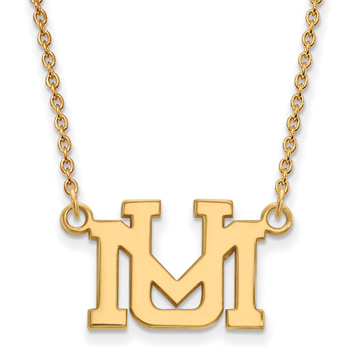 SS w/GP University of Montana Small Pendant w/Necklace
