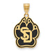 SS w/GP University of South Dakota Large Enamel Pendant