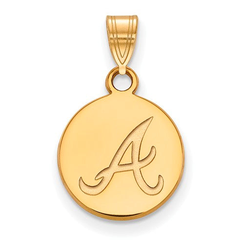 SS w/GP MLB  Atlanta Braves Small Disc Pendant