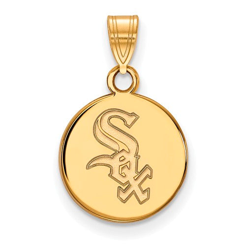 SS w/GP MLB  Chicago White Sox Small Disc Pendant