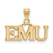 SS w/GP Eastern Michigan University Small EMU Pendant