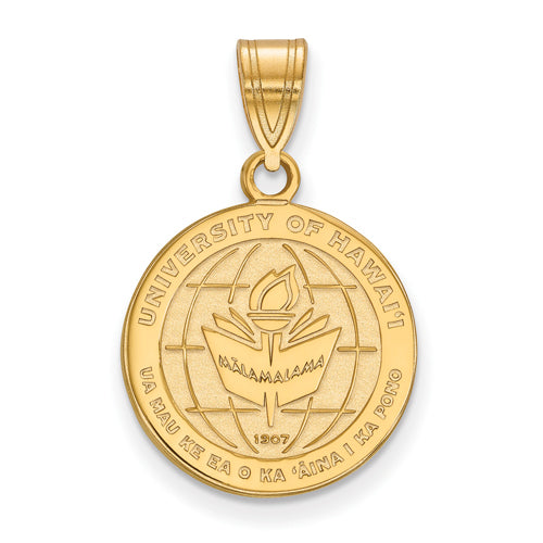 SS w/GP The University of Hawaii Medium Crest Pendant