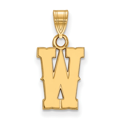 SS w/GP The University of Wyoming Small W Pendant